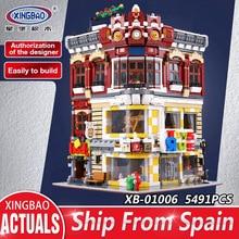 XingBao 01006 творческая город МОС серии игрушки и книжный магазин установить Совместимость с lego дети строительные блоки кирпичи игрушка подарок