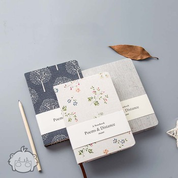 Creative Notebook Stationery Handbook Cloth Cover A5 Blank Horizontal Line Paper Notebook Personal Diary Planner Agenda Journal creative stationery elegant flower chinese wind diary horizontal line small travel planner diary book notebook dd1358