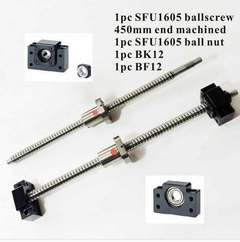 CNC Shvup SFU1605 Set: L450mm End of Machining + SFU1605 swab SFU1605 Ball-nut + BK12 BF12 End-stop for SHVP diversity of east african physic nut jatropha curcas l germplasm