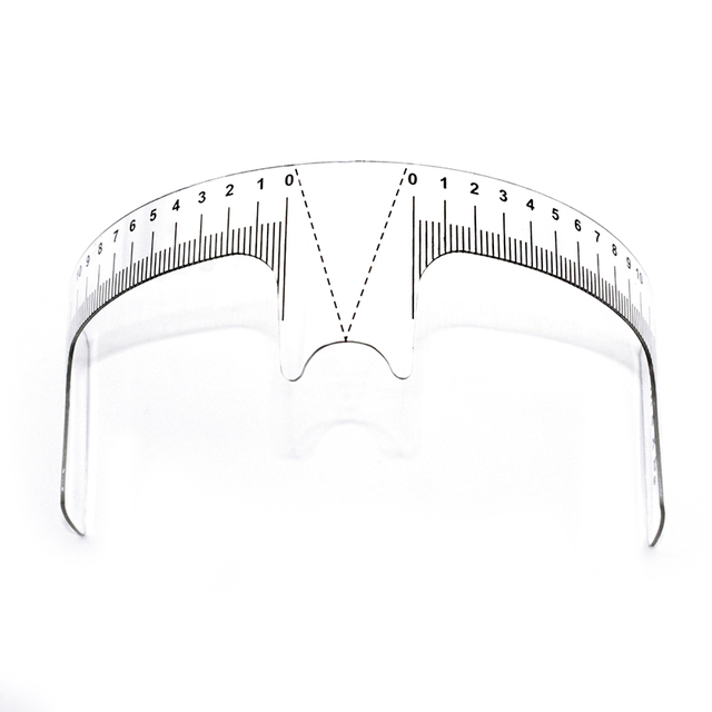 10 pcs Eyebrow Grooming Stencil Shaper Ruler Measure Tool Makeup Reusable Eyebrow Ruler Tool Measures