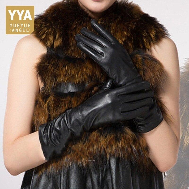2019 haute qualité gants en cuir véritable solide gants mode OL moto gants noir conduite Guantes Invierno