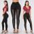 Ahueca hacia Fuera el Vendaje Lápiz Pantalones de Las Mujeres de Cintura Alta Stretch Gimnasio Lulu Pantalones Leggings Muchacha de Las Señoras Atan Para Arriba Estilo de Partido Atractivo