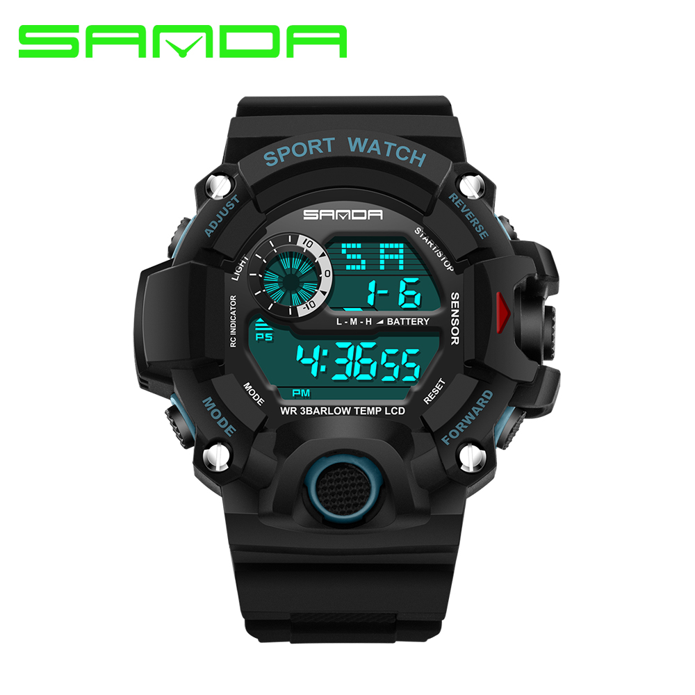 Fashion SANDA Sports Brand Watch Mens Digital Shock Resistant Electronic Watch Outdoor Military LED Casual Watches Relojes GiftFashion SANDA Sports Brand Watch Mens Digital Shock Resistant Electronic Watch Outdoor Military LED Casual Watches Relojes Gift