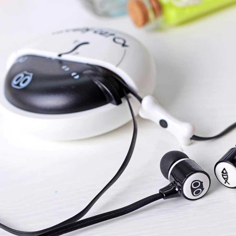 のためのかわいいイヤホン 3.5 ミリメートルインイヤーステレオ Mic イヤホンケース電話子供 Xiaomi サムスン MP3 MP4 auriculares
