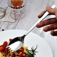 LEMAIJIAJU 1pc Stainless Steel Spoon Fork Knife Portable Salad Spoon Cooking Utensil Outdoor Picnic Tableware #45