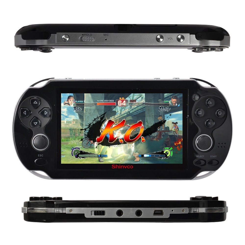 4.3 inch 8G portable game player handheld game console camera video music for gba nes gbc smc smd mini game