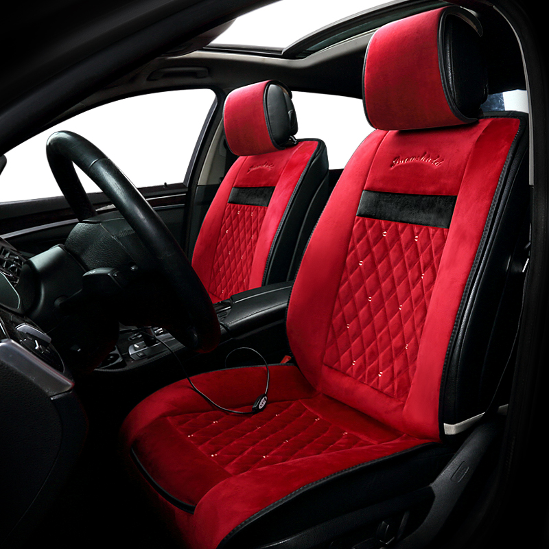Winter car electric heating cushion car seat swan hair single and two seat cushion heating cushion in Automobiles Seat Covers from Automobiles Motorcycles