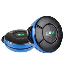 BN Micro PU Weighted Round Shield Taekwondo MMA Muay Thai Boxing Pads Sparring Training Martial Arts Punching Focus Target EO