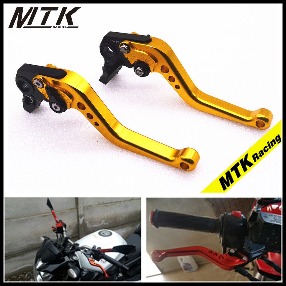 MTKRACING 7 Colors Motorcycle Accessoris Short Brake Clutch Levers For YAMAHA YZF R1 R6 FZ1 FAZER R6S Free shipping adjustable folding extendable brake clutch levers for yamaha r6s usa version r6s canada version fz1 fazer 8 colors