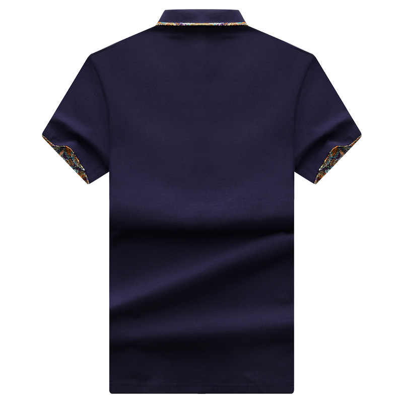 MIACAWOR New Men Polo Shirt 95% Cotton Tee shirt Homme Print Collar Short-sleeve Slim Fit Casual Shirts MT623