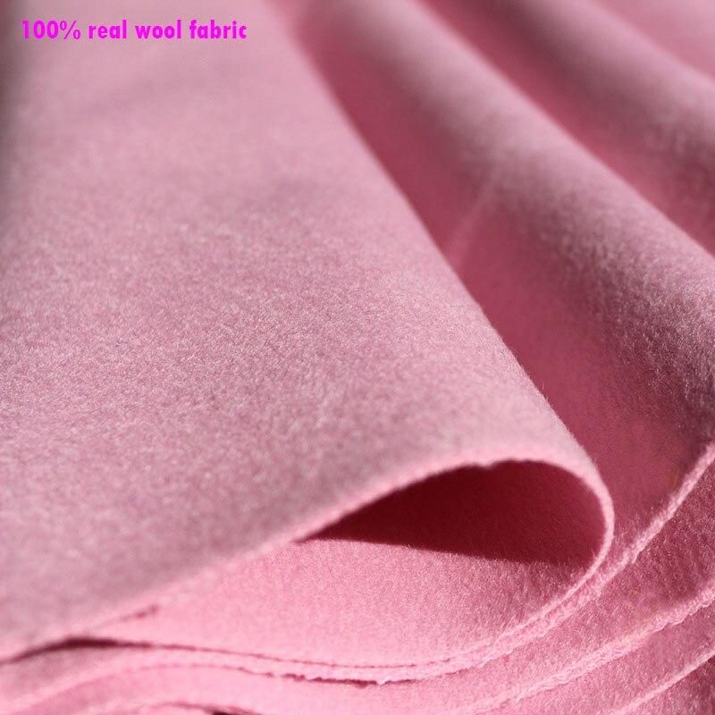 Bonne qualité large 145 cm x 1 mètre 100% Fine laine tissu épais cachemire tissu véritable laine tissu pour manteau bricolage couture hiver manteau