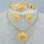 Conjunto de jóias etíope habesha nupcial do casamento africano banhado a ouro 4 pcs set/nigéria/sudão/eritreia/quênia/kedis jewelry #002502
