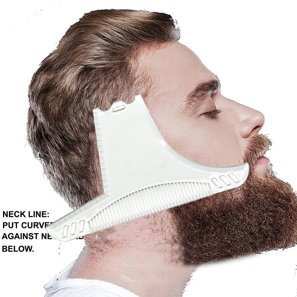 1pc Professional Men's Beard Styling Template Comb Kit Beard Shaping Tool Shaving Removal Model Trimmer Styling Hair Accessories