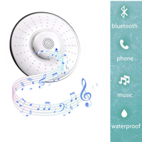 1Pcs Multifunction Music Shower Top Spray Shower Head Built in Bluetooth Can Call Music Phone Hands Free Nozzle Bathroom Tool