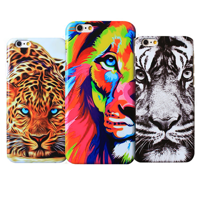 Fashion Cool Cheetah Animal Hard Plastic Cover For Apple Iphone 5 5S SE 6 6S 7 Phone Case lion Tiger Pattern Coque Cases Bags