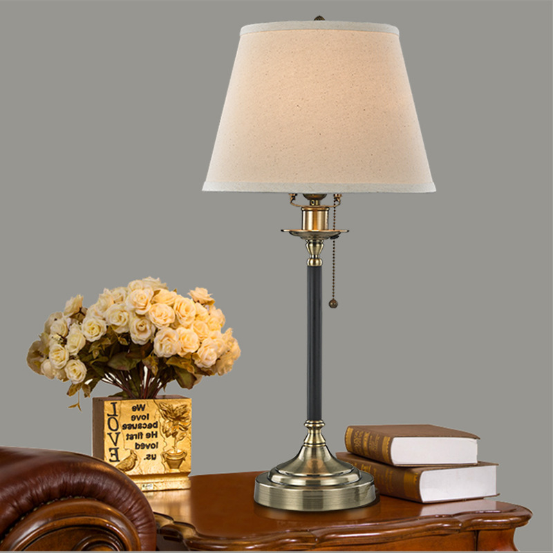 Туда 30x62 см Бесплатная доставка из металла классическая настольная лампа Дизайн настольная лампа LED Кабинет Настольная лампа e27 110 В-220 В
