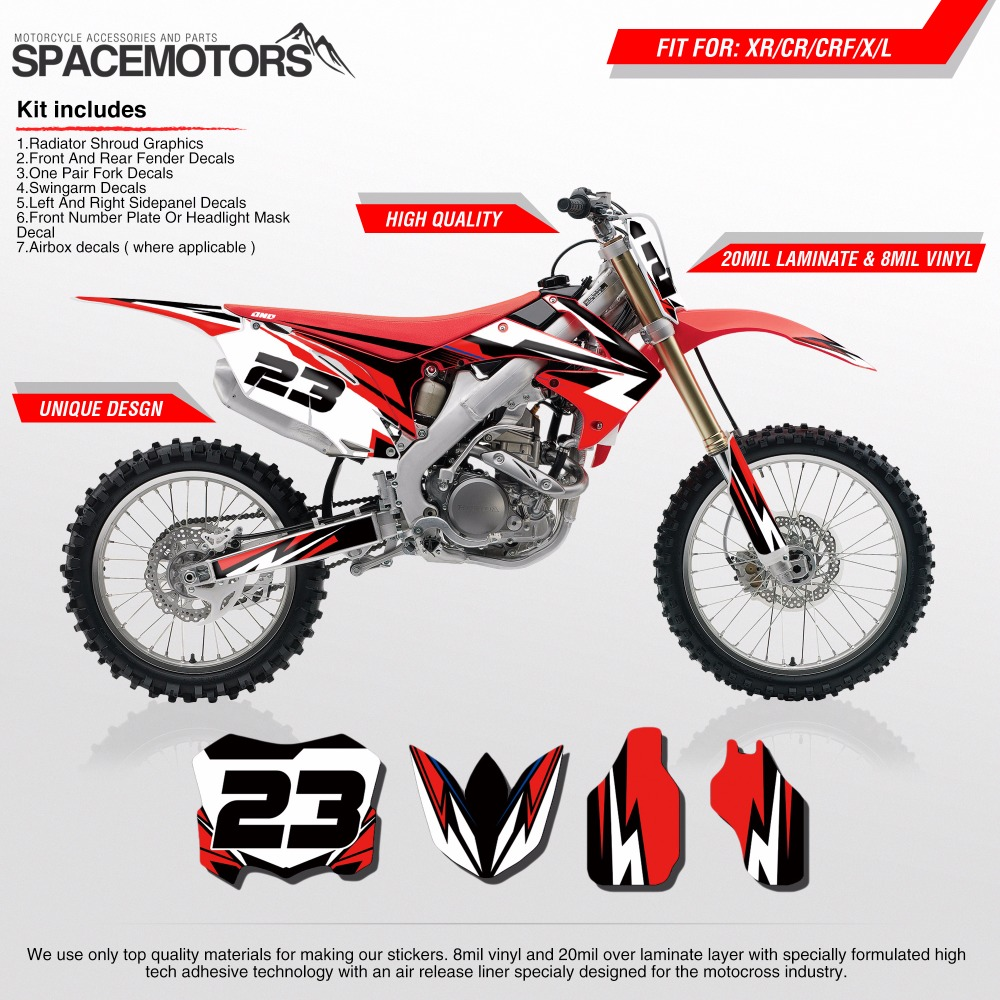 b3989fed98bb1d ONE INDUSTRIES FRONT FENDER GRAPHICS HONDA CR125 CR250 CR XR Motorcycle  Accessories