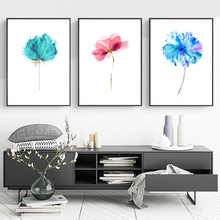 Watercolor Beautiful Plant Floral Flower Rose Canvas Painting Art Print Poster Picture Wall Decoration Modern Home Decor OT017