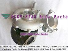Free Ship GT2260V 753392 742417 753392-5018S 11657791046 1044 Turbo Turbocharger For BMW X5 3.0d E53 2003-07 M57N 3.0L 218HP