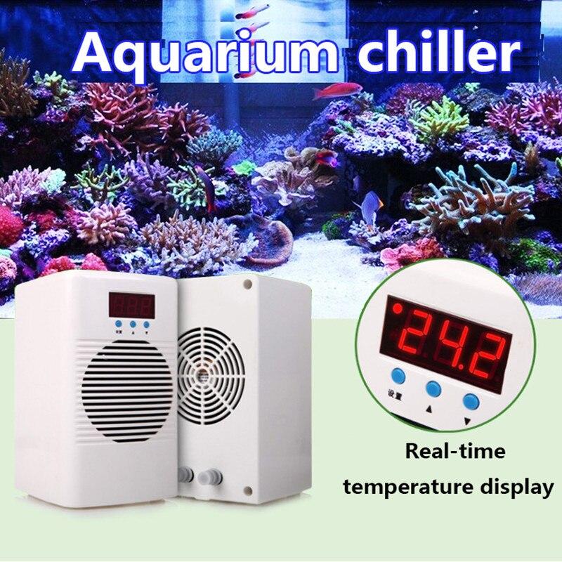 110-240 v Aquarium Chiller de Água Cooler & Warmer Para Abaixo 20L 30L Aquário Marinho Coral Reef Tanque de Camarão a Temperatura da água