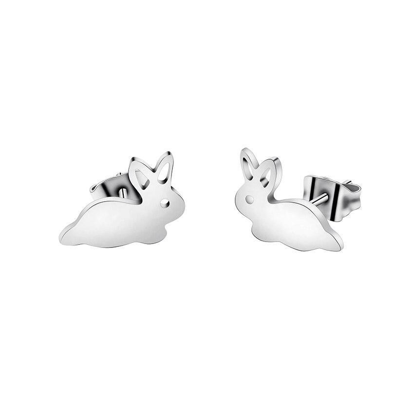 Minimalizëm Xhevahire Jewellry Color Rabbit Bunny Stud Vathë Për - Bizhuteri të modës - Foto 2