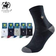 5 пар/лот PIER POLO, высококачественные модные брендовые повседневные хлопковые носки, мужские носки с вышивкой в деловом стиле, от производителя