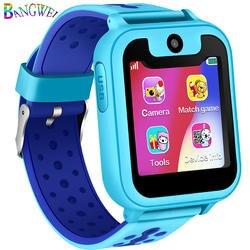 BANGWEI популярный СВЕТОДИОДНЫЙ цветной экран Детские умные часы gps позиционный трекер безопасность расстояние Настройка SOS Поддержка sim-карты