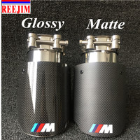 In 63mm 2 5 Out 89mm 3 5 Stainless M Performance Carbon Fiber Exhaust Tip Car