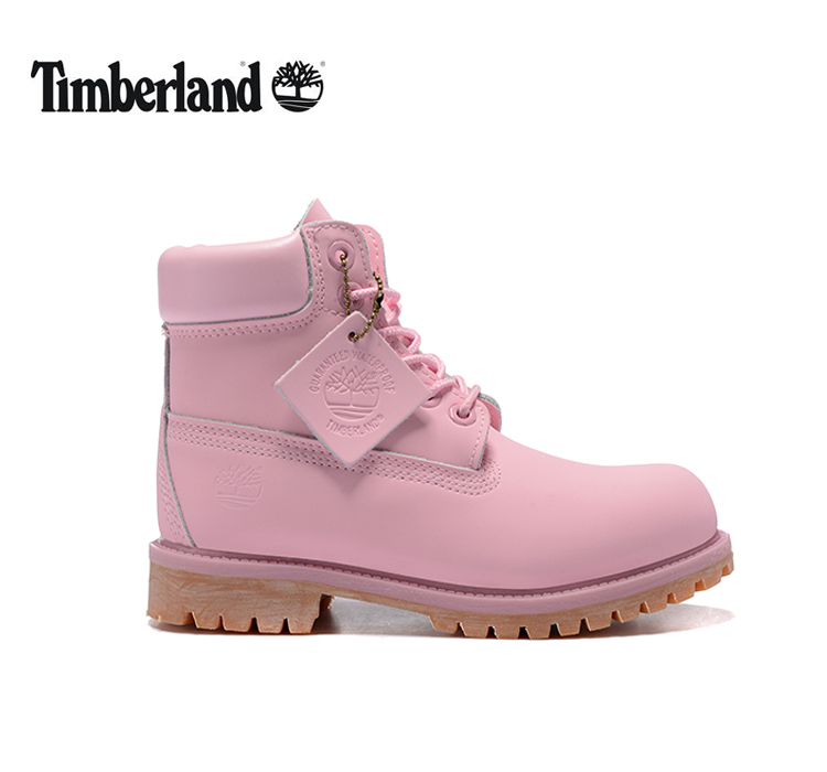 TIMBERLAND Women 10061 Light Pink Fashion Popular Martin Ankle Boots,Woman Girl Leather Cute Street Elegant Lovely Casual Shoes