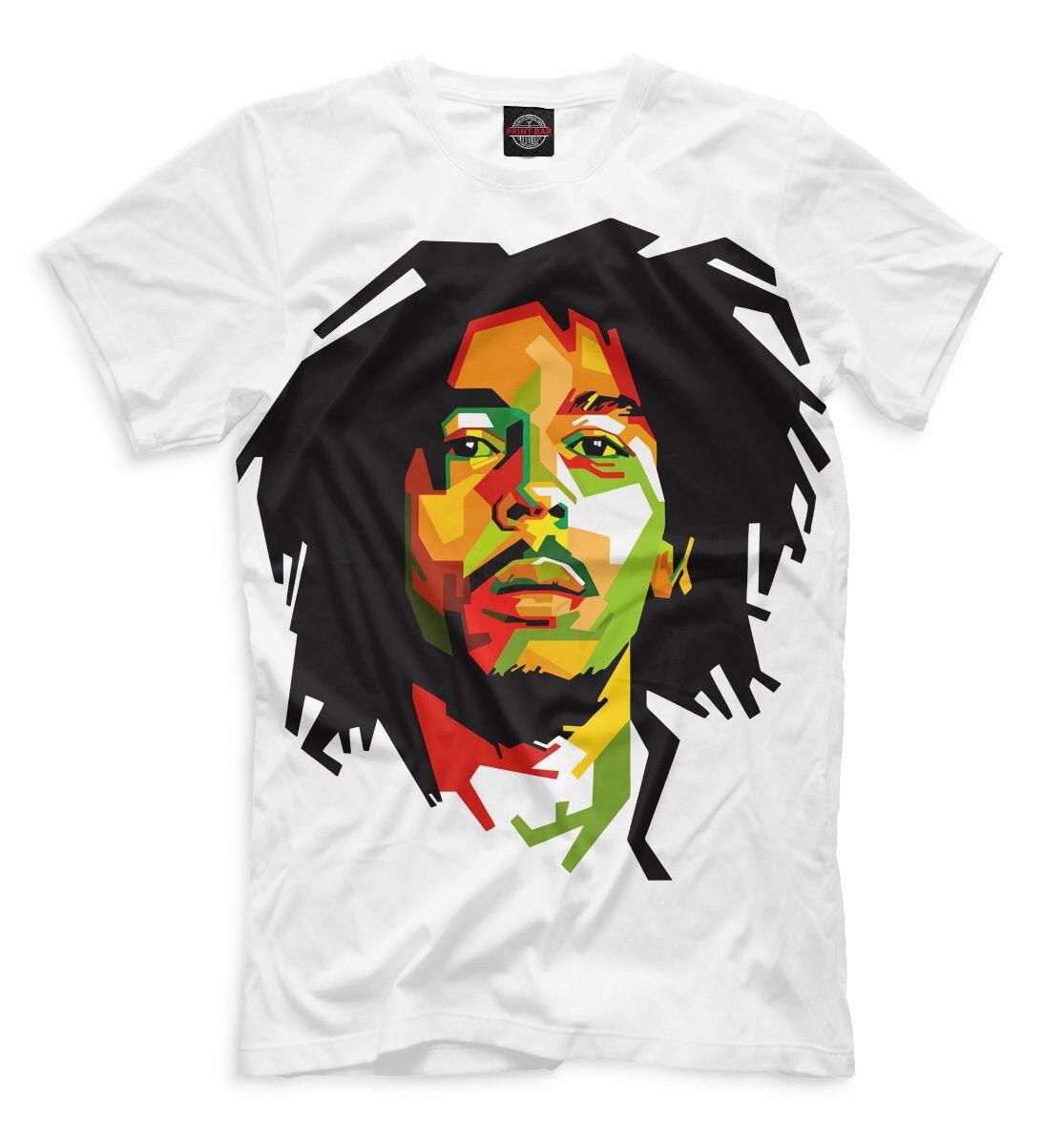 2018 Nouveau Mode D'été T-shirt BOB MARLEY NOUVEAU t-shirt rasta drapeau reggae jamaïque designe cool HQ impression