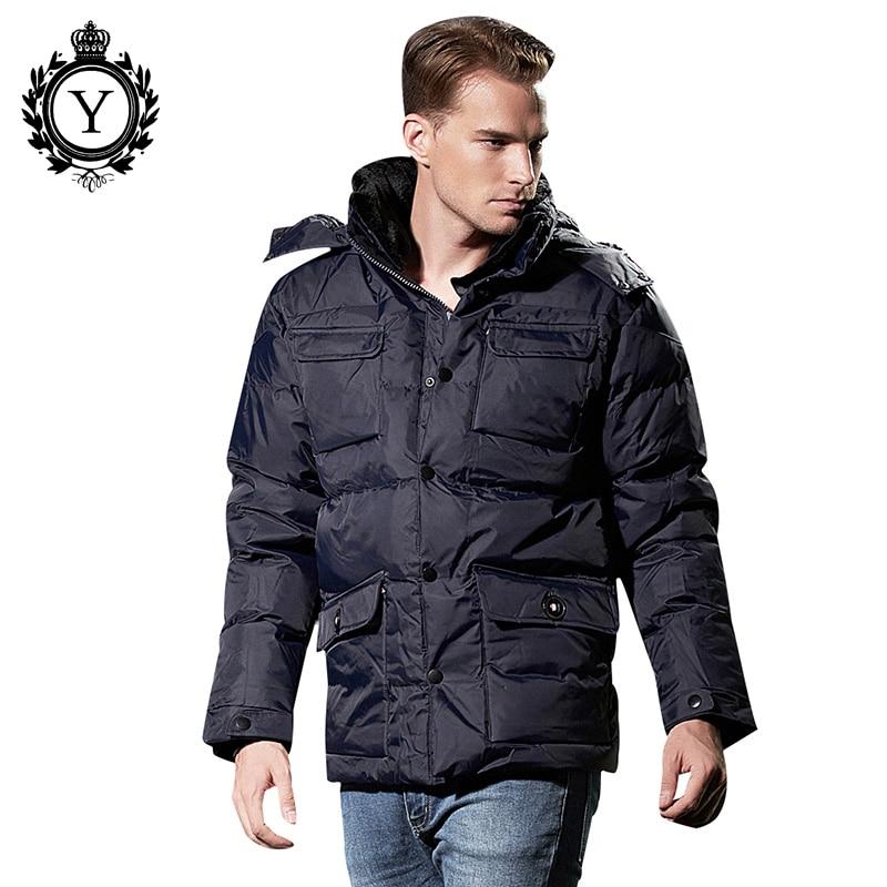 COUTUDI 2018 New Winter Jacket Men Warm Waterproof Outwear Down Coat Loose Zipper Male Solid Parka Jackets Thick Men's Clothing