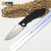 BMT Ball Bearings 0562 CF Flipper Tactical Survival Folding Knife D2 Blade G10 Titanizing steel handle camping Pocket Knife Tool