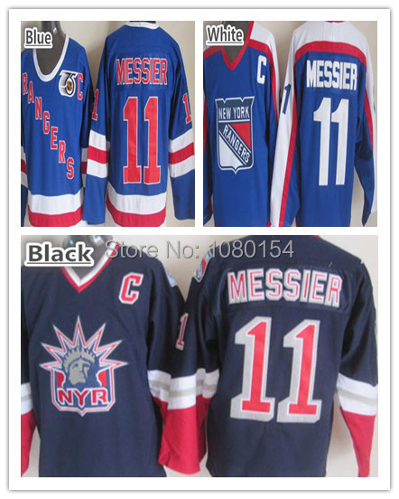 96fca3575 ... 1996-97 New York Rangers Mark Messier Throwback Jersey 11 Blue Stitched  Alternate Lady .