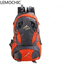 LEMOCHIC outdoor Female sports backpack travel backpack college students school bag canvas Trekking male mountaineering FREESHIP