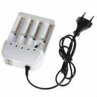 Universal 4 Ports Batterie Ladegerät EU Stecker für 18650 26650 AA AAA Batterien