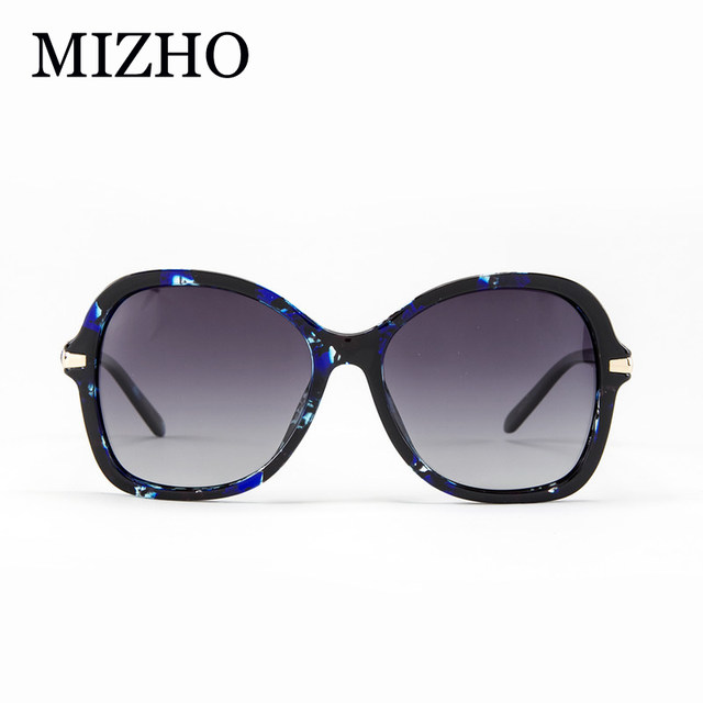 410ef7e22f Fashion BLUE Pattern Gradient Polarized Sunglasses Women Clear With BOX  High Quality Anti Glare Polaroid Glasses Ladies Luxury