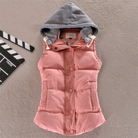Women S Cotton Hooded Vest Coats Female New Autumn 6XL Thicken Warm Casual Jacket Outerwear Solid