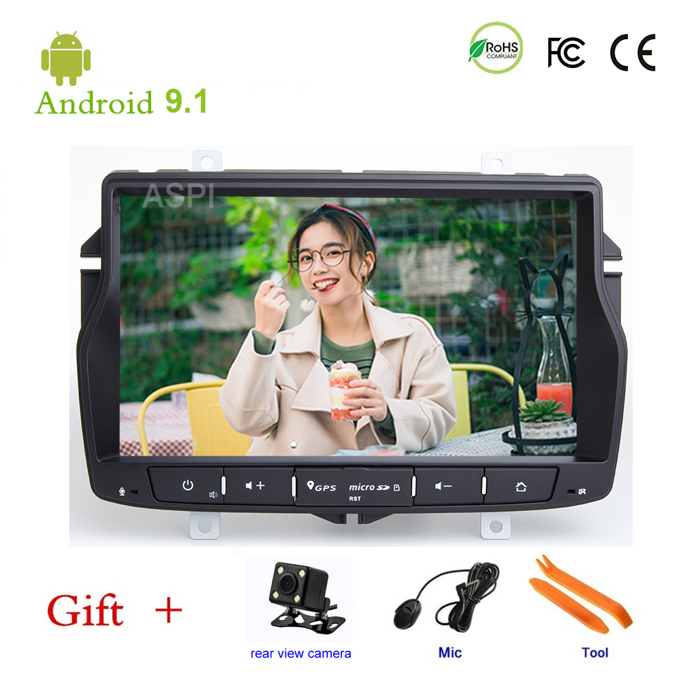 Car DVD player For Lada Vesta GPS stereo audio navigation,Android 9.1,One DIN Bluetooth ISP 8'' screen