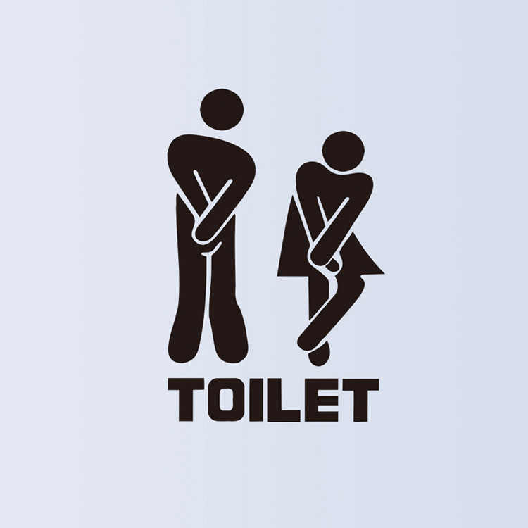 Có Thể Tháo Rời Vệ Sinh Miếng Dán Tường Người Phụ Nữ Phòng Rửa Vệ Sinh Ký WC Miếng Dán DIY Trang Trí Vinyl Dán Tường Cửa Vệ Sinh Decal # YL