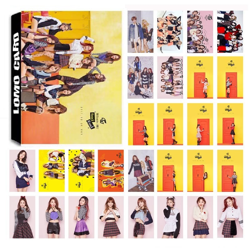 New 30Pcs/set KPOP TWICE 03 Knock Knock Album Photo Card PVC Cards Self Made LOMO Card Photocard