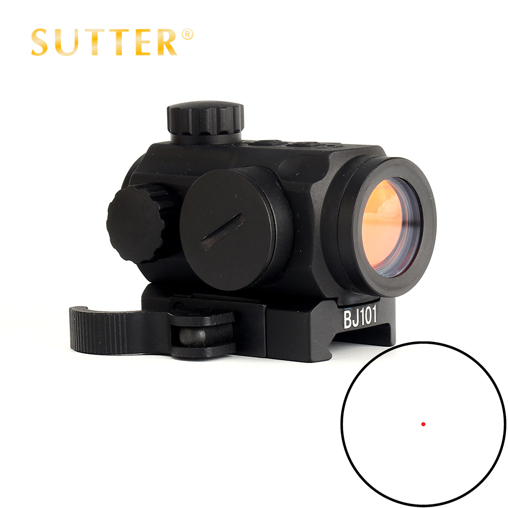 SUTTER Low Power Tactical Hunting 1X21 Spec Reflex 5 MOA Red Dot Sight Scope With Quick Release Weaver Picatinny Mount vector optics gen ii torrent 1x20 tactical red dot scope sight with quick release 21mm weaver mount fit for night vision hunting