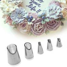 TTLIFE 1pc Cake Cream Nozzle Tulip Home Garden Stainless Steel Icing Piping Tips DIY Pastry Decor Baking Tools Kitchen Gadget