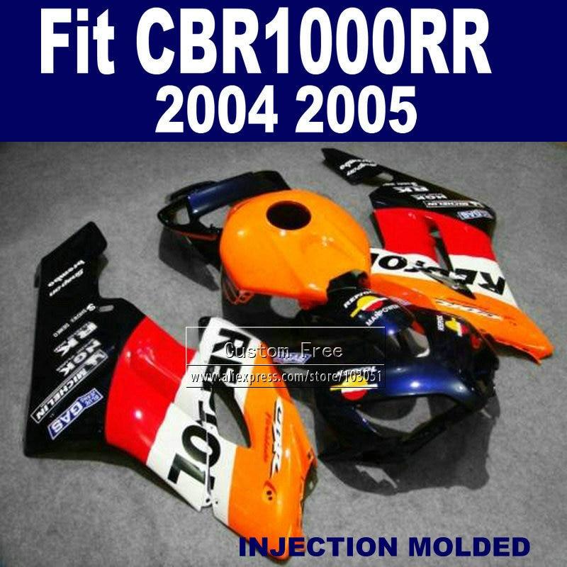 Kit de carénages d'injection pour Honda repsol CBR1000RR 2004 2005 CBR 1000 RR 04 05 CBR1000 carénages de rechange