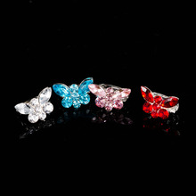 Hot 10pcs/lot Fashion Mini Beautiful Bridal Butterfly Crystal Hair Clip Buckle Claw Clamp Headdress Jewelry for Party
