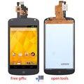 Para lg google nexus 4 e960 display lcd digitador da tela de painel de toque de vidro da tela assembléia substituição + ferramentas gratuitas