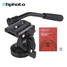 KINGJOY KH-6750 Flexible Poignée Tête Vidéo Photographie Fluide Glisser Hydraulique Trépied Rotule pour Canon Nikon Sony DSLR Caméra