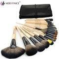 Moda 24 Unids Pinceles de Maquillaje Set de Maquillaje Profesional Cepillos y Herramientas Kit de Cosméticos Lana Marca Maquillaje Cepillos Conjunto con bolsa