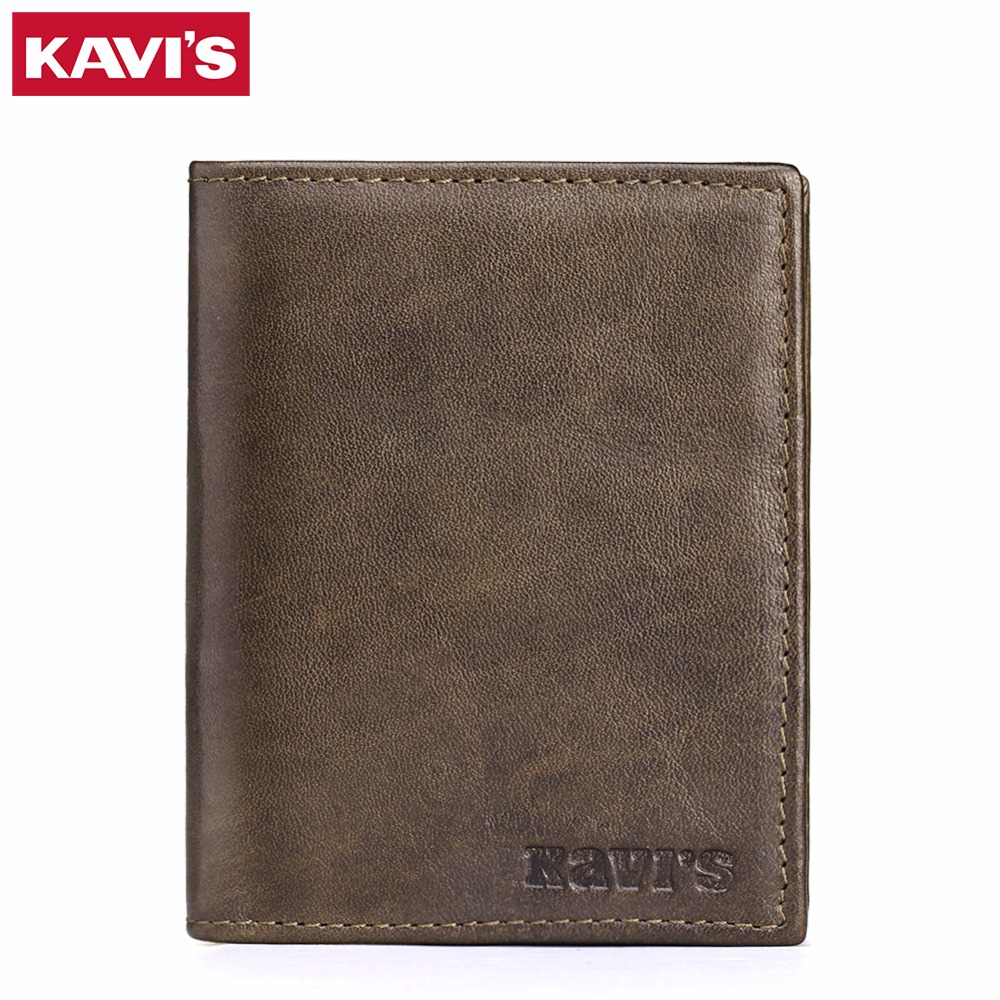 KAVIS Male Genuine Leather Mens Wallet Business Coin Purse Walet Portomonee Rfid Vallet Pocket Perse Holder Magic PORTFOLIO with kavis genuine leather wallet men mini walet pocket coin purse portomonee small slim portfolio male perse rfid fashion vallet bag