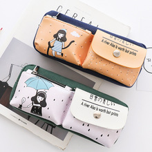 Здесь можно купить   Stationery Canvas Pencil Case school Pencil Bag for school Pencil-case Office School Supplies Pens Pencils Writing Supplies Gift Pens, Pencils & Writing Supplies
