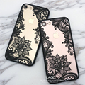 Luxury Lace Cartoon Flower Case For iphone 7 Case For iphone7 6 6S PLus Case Sexy Paisley Mandala Henna Floral Cover Phone Cases